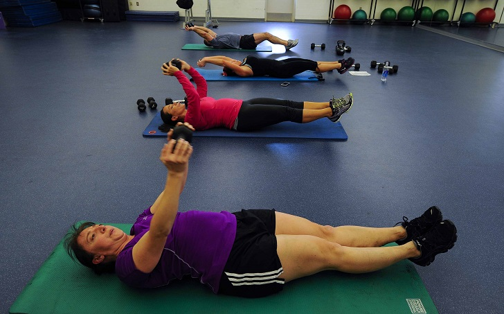 moderate intensity workout exercise